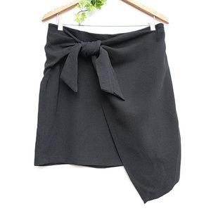 Who What Wear Faux Wrap Tie Asymmetric Skirt